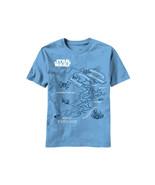 Star Wars Planet of Tatooine Map Carolina Blue Adult T-Shirt 2X NEW UNWORN - $20.31