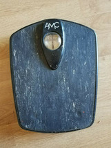 Vintage 50's AMC Bathroom Scale Body Weight Balance Black - $14.99