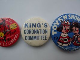 Lot of 3 Vintage St. Paul Winter Carnival Pinback Buttons image 3