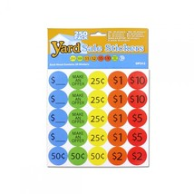250 Piece Yard Sale Pricing Stickers OP313 - $51.05