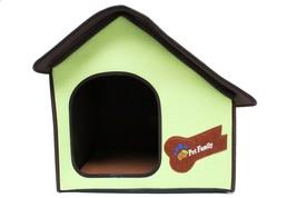 Portable Pet House Folding Lightweight Indoor Outdoor Green For Small Do... - $35.63