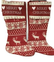 "2 pack -Large Printed stockings - 20.5"" long - Embroidered Snowflakes & ... - $19.39"