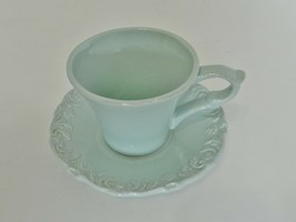 Home Essentials & Beyond Madison Collection Antique Blue Coffee Cup and ... - $14.73