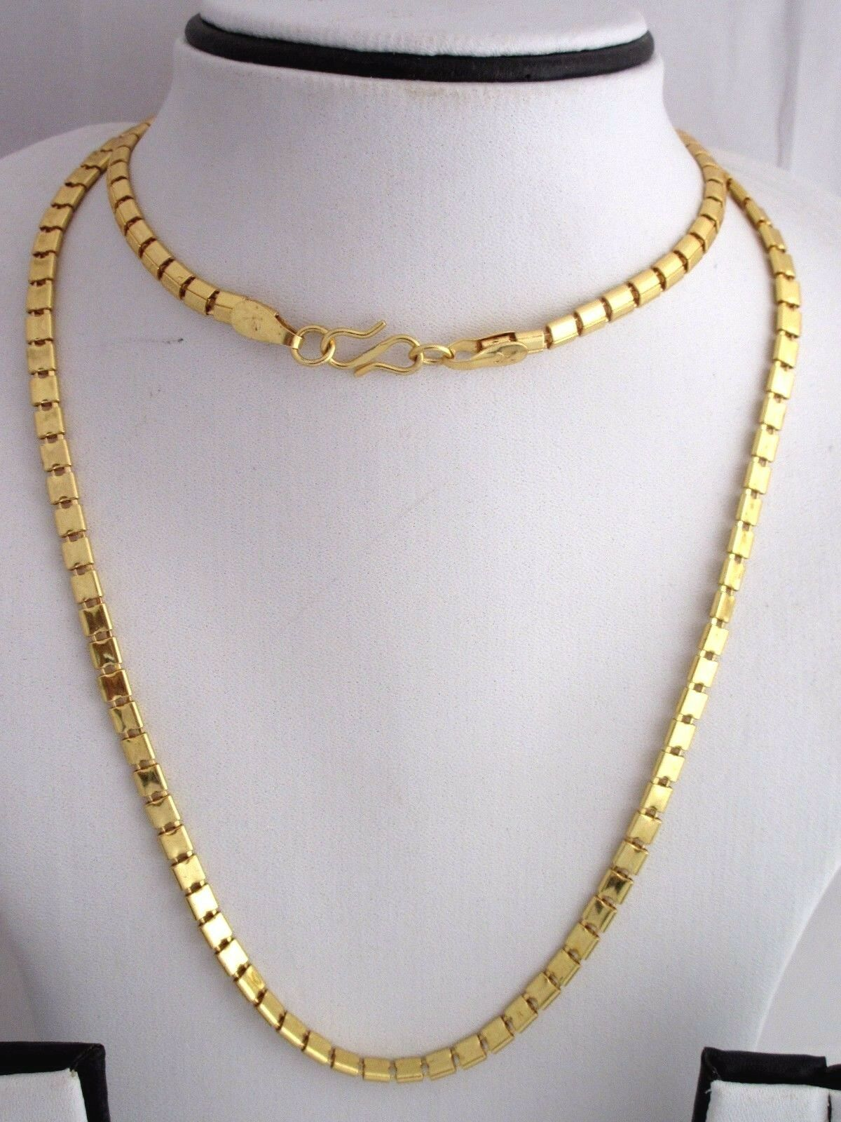 "Indian Bollywood Gold Plated 30"" Long Box Chain Wedding Necklace Fashion Jewelry image 3"