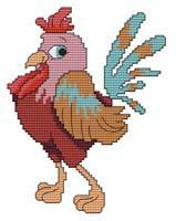 Primary image for Cute Rooster 2 cross stitch chart Cross Stitch Wonders