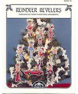 Reindeer Revelers ~10 Cross Stitch Ornaments - $4.00