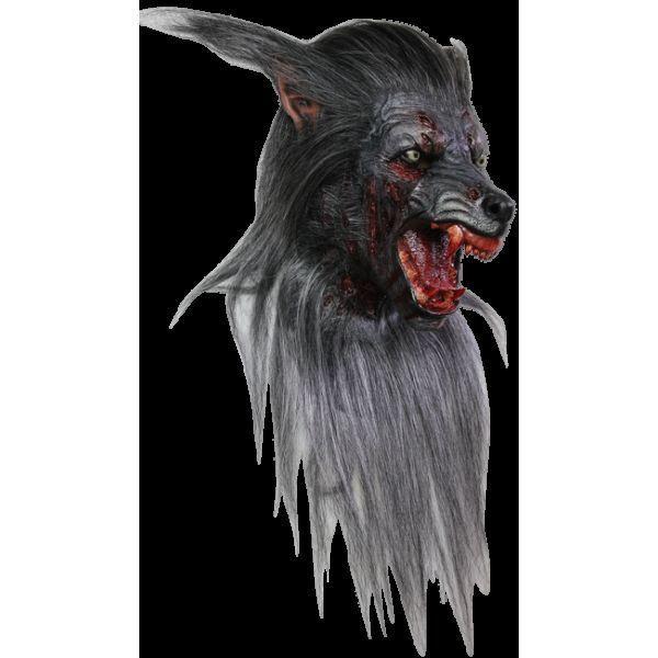 Black Werewolf Adult Latex Halloween Mask