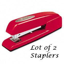 Swingline - 747 Full Strip Red Stapler - Lot of 2