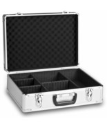 Suitcase Aluminium Digital Briefcase Metallic Ideal Photography Computin... - $234.59