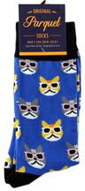 Cool Cats Mens Novelty Crew Socks Casual Cotton Blend Fun Sunglasses Cat... - $12.95