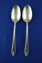 2 Wm Rogers & Son Exquisite 1940 Serving Spoons - $11.88