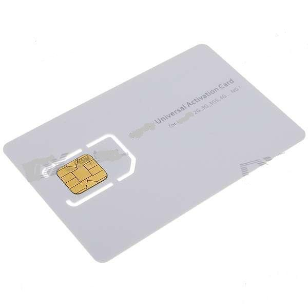 Universal Activation Sim Card for   2G 3G 3GS 4