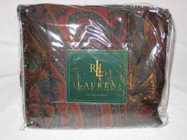 Ralph Lauren Greycliff Paisley Cal King Bedskirt Nip Bugundy - $47.45