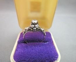 Vintage Platinum Diamond Ring Size 6 Fancy Scroll Open Work 4g  VVS1 1/3... - $1,484.99