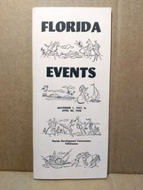 1957 Florida Events Travel Guide Sports Music Theatre Exhibits FL Vacation - $10.00