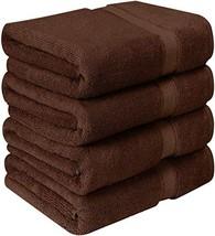 Utopia Towels Luxurious Bath Towels, 4 Pack, Dark Brown - $29.03