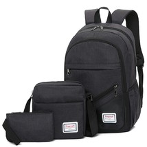 Backpack School, High Capacity Stylish Backpack College Student, 3pc - $46.79 CAD