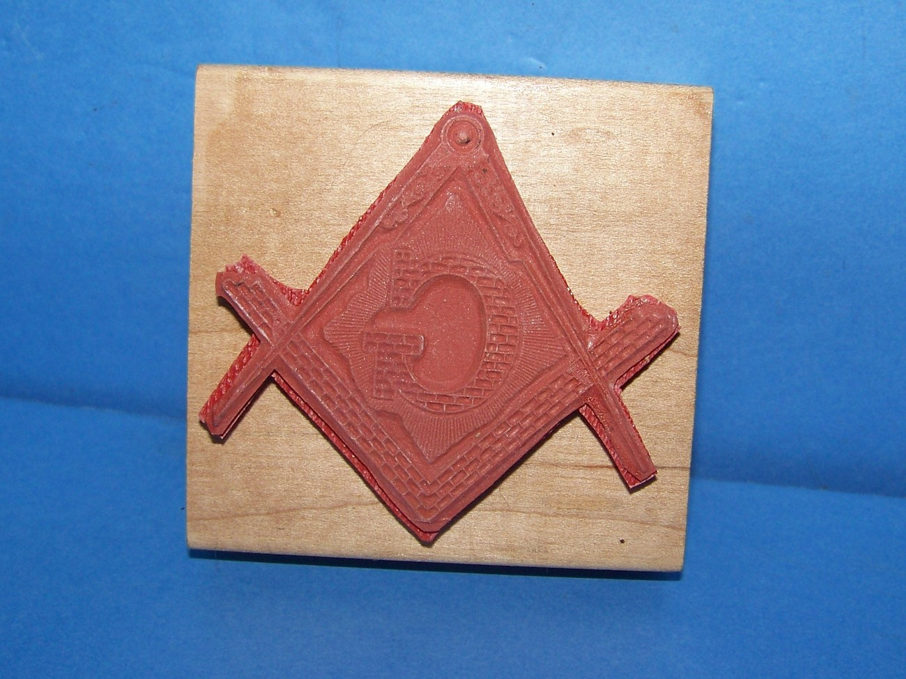 Masonic Logo gigantic Rubber Stamp master mason ornate