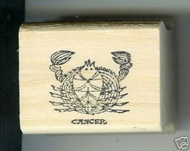 Cancer Zodiac Sign Rubber Stamp 1960's Jun21-Jul22 Crab - $7.00