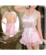8071 Sexy nurse outfits, satin, lace trim, g-string, free size, fit to s/m/l, pi - $22.80
