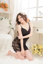 9988 Sexy neck hatler dress, lycra front, sheer net black, fit to s/m/l,... - $27.00