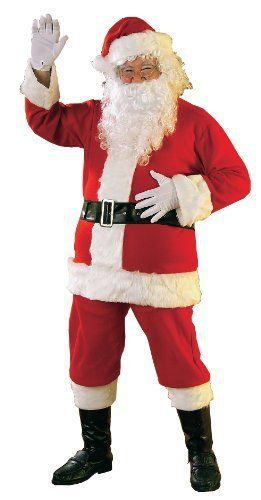 Santa Costume Flannel Santa Suit  Plus Size  50-52