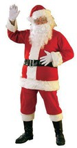 Santa Costume Flannel Santa Suit  Plus Size  50-52 - £57.00 GBP