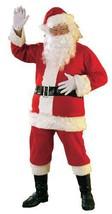 Santa Costume Flannel Santa Suit  Plus Size  50-52 - $74.99