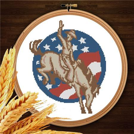 Primary image for Cowboys 004 western cross stitch chart Pinoy Stitch
