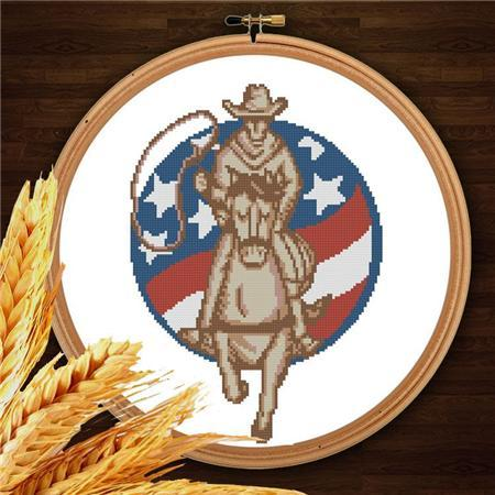 Primary image for Cowboys 006 western cross stitch chart Pinoy Stitch