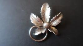 """Vintage Sterling Silver Oak ( weed? ) Leaf Brooch 1 5/8"""" x 1.25"""" - $39.59"""