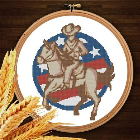 Primary image for Cowboys 009 western cross stitch chart Pinoy Stitch