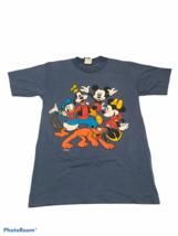 Vintage Mickey Unlimited T-Shirt Velva Sheen Disney Characters Blue Mens... - $14.20