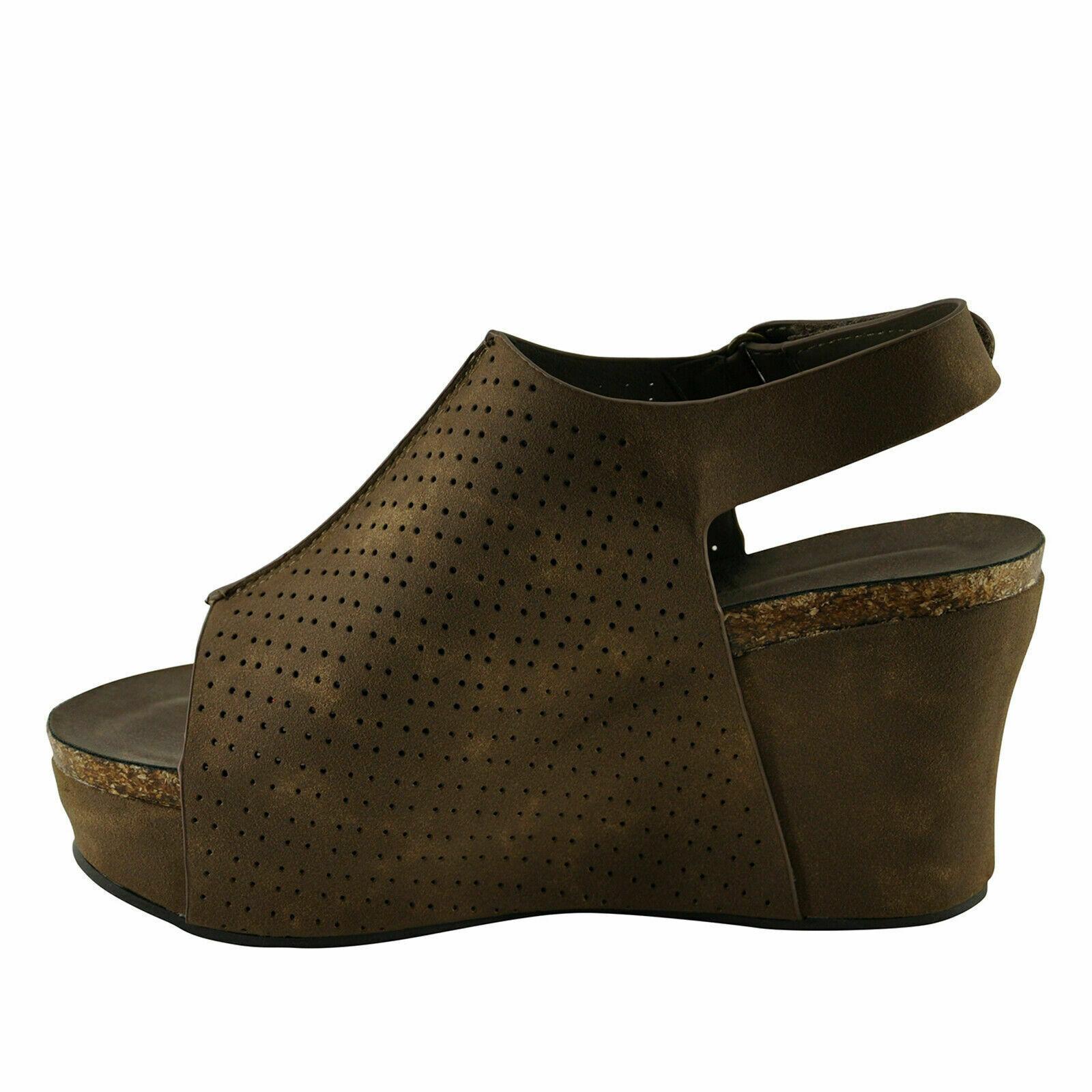 Pierre Dumas Hester-16 Taupe Women's Platform Wedge Sandals - $44.95