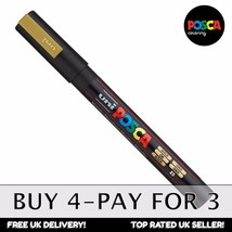 Uni-Ball Posca PC-3M Marqueur peinture art - dorés - unitaire - BUY 4, Pay for 3 - $6.20