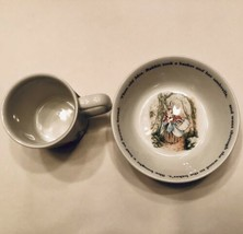 Wedgwood Peter Rabbit 2 Pc Cup & Bowl Nursery Set Beatrix Potter 1993 New - $14.95