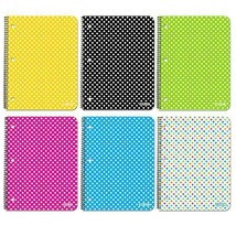C/R 70 Ct. 1-Subject Polka Dot Spiral Notebook, 1-ct. - $2.50