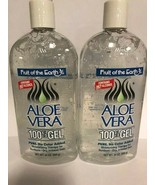 Fruit of the Earth New Aloe Vera 100% Pure Gel 24 oz 680g (Pack of 2) - $28.99