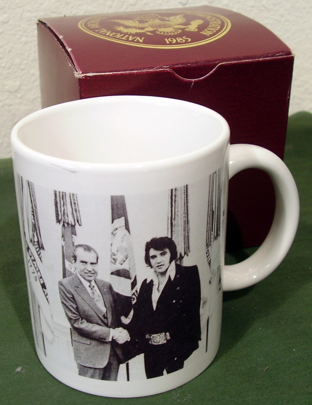 Elvis Presley Richard Nixon Coffee Cup Mug