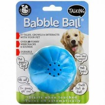 Premium Pet Qwerks Talking Babble Ball Interactive Dog Toy Wisecracks Large - $13.61 CAD