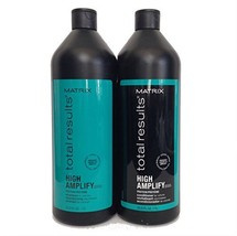 Matrix Total Results High Amplify Shampoo & Conditioner Liter Set 33.8oz Each - $44.55