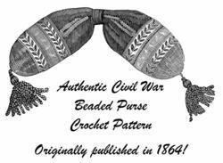 1864 Antebellum Civil War Beaded Bag Crochet Pattern DIY Victorian Reenactment