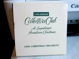 Longaberger Collectors Club Hometown Christmas Ornament 1996 - $9.32