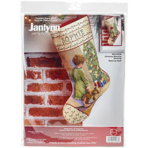 "Janlynn Counted Cross Stitch Stocking Kit 18"" Long-Christmas Morning (14... - $29.97"