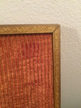 "Vintage 40s gold ornate 8"" x 10"" frame with easel back image 4"