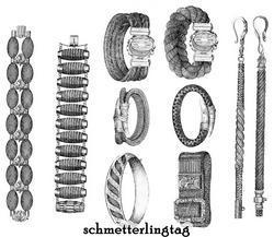 1867 Victorian Hair Work Book Hairwork Jewelry Civil War DIY Braiding Designs 2