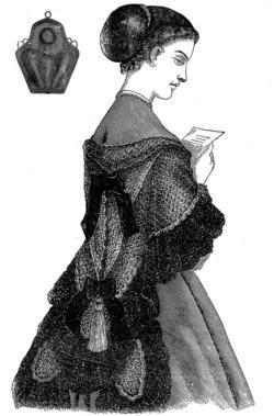 1869 Civil War Cape Shawl Crochet & Knit Pattern DIY Victorian Reenactment Wrap