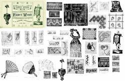 1882 Victorian Embroidery Book Pattern Design DIY Fancy Work Art Neuveau Crafts