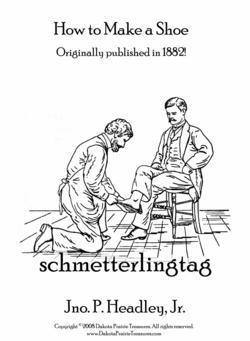 1882 Victorian Era Boot Shoe Making Book Make Leather Shoes Shoemaker Guide DIY