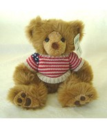 Snookums Teddy Bear with Patriotic Knit Sweater - $25.00